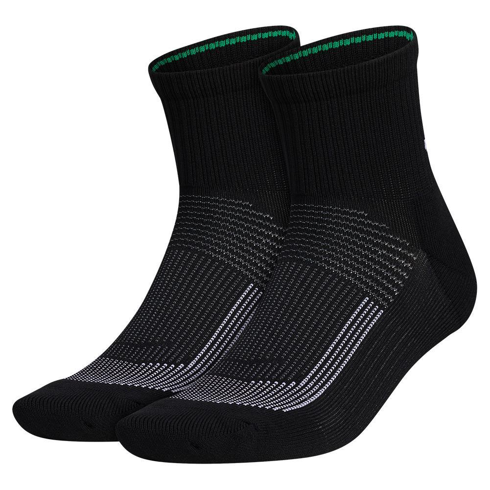 Mens Superlite Ub21 Quarter Socks 2- Pack Black And Grey