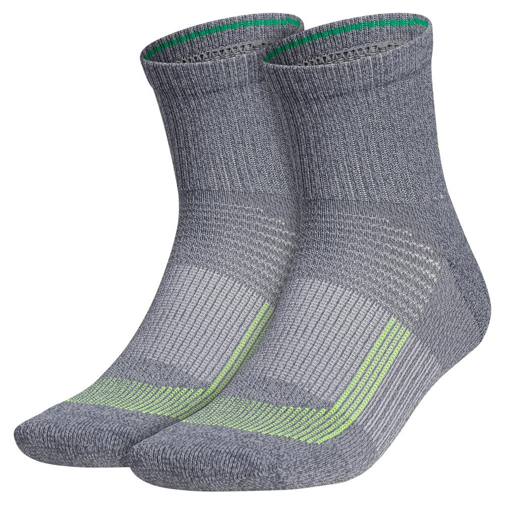 Mens Superlite Ub21 Quarter Socks 2- Pack Onix Grey And Solar Yellow