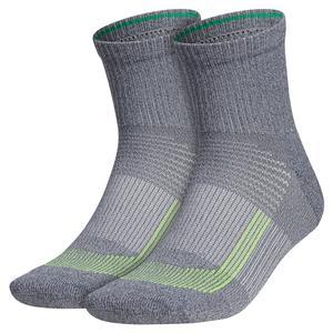 Mens Superlite UB21 Quarter Socks 2-Pack Onix Grey and Solar Yellow