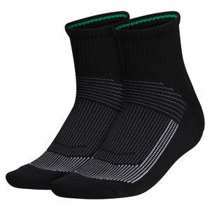 Women`s Superlite UB21 Quarter Socks 2-Pack Black and Grey