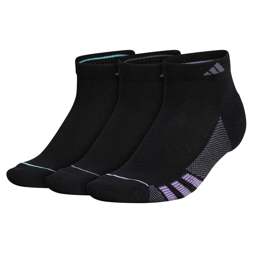 Women's Superlite Stripe Ii Low Cut Socks 3- Pack Black And Super Purple