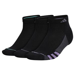 Women`s Superlite Stripe II Low Cut Socks 3-Pack Black and Super Purple