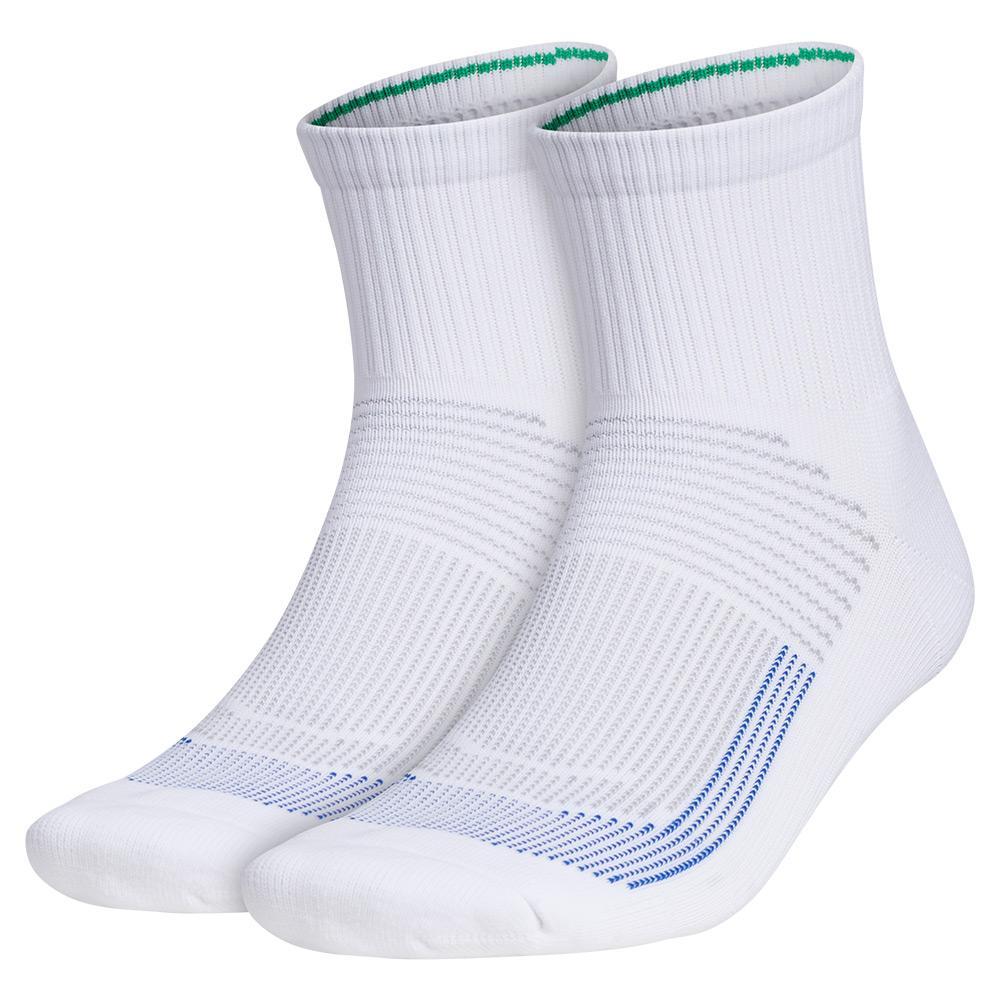 Mens Superlite Ub21 Quarter Socks 2- Pack White And Clear Onix