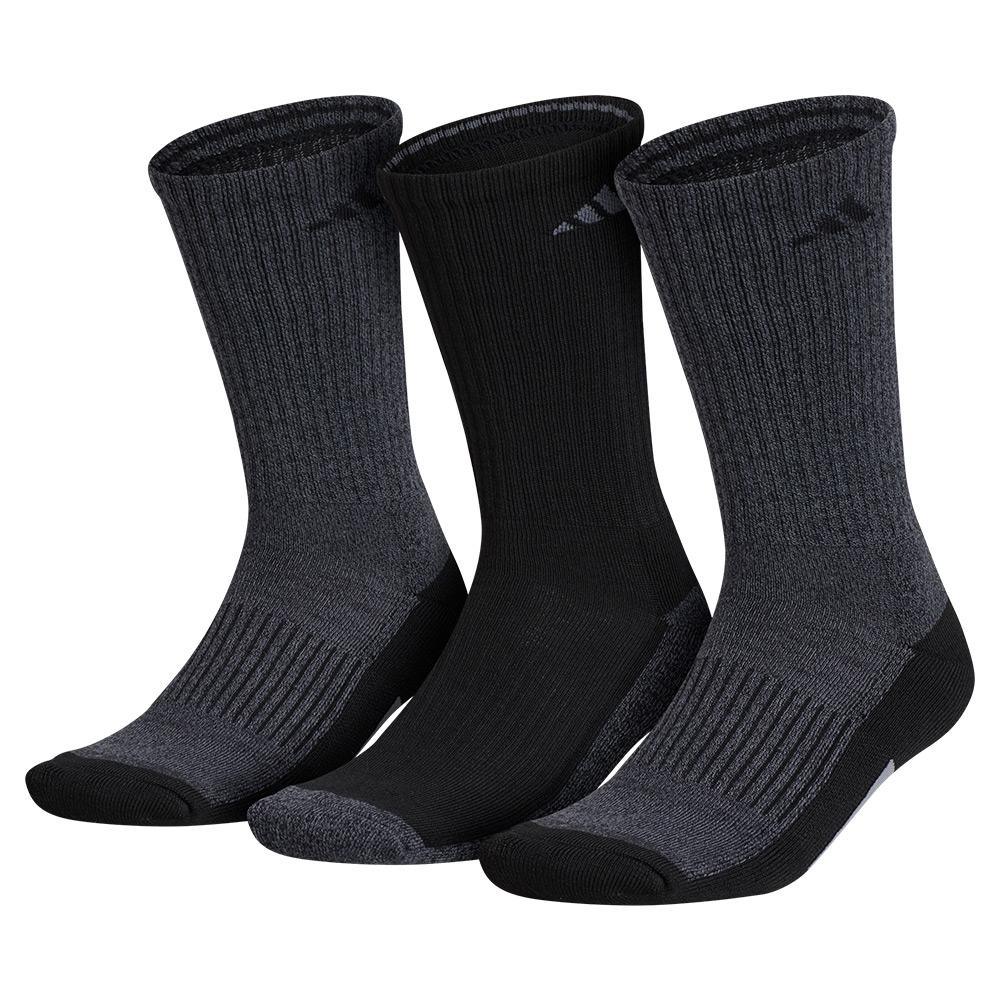 Mens Cushioned X 3 Crew Socks Size 6- 12 3- Pack Black And Onix