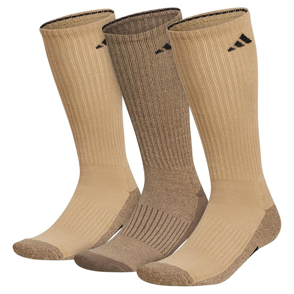 Mens Cushioned X 3 Crew Socks 3- Pack Beige Tone And Blanch Cargo