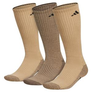 Mens Cushioned X 3 Crew Socks 3-Pack Beige Tone and Blanch Cargo