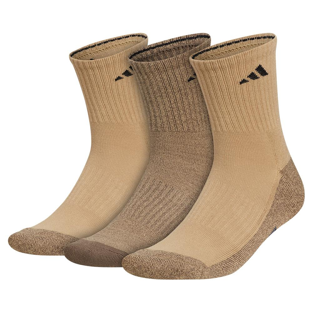 Mens Cushioned X 3 Mid- Crew Socks 3- Pack Beige Tone And Blanch Cargo