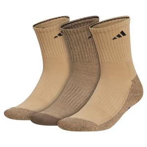 Mens Cushioned X 3 Mid-Crew Socks 3-Pack Beige Tone and Blanch Cargo