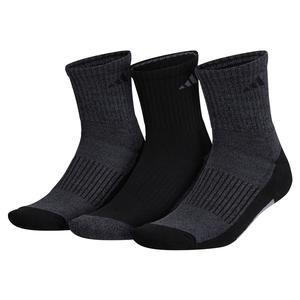 Mens Cushioned X 3 Mid-Crew Socks 3-Pack Black and Onix
