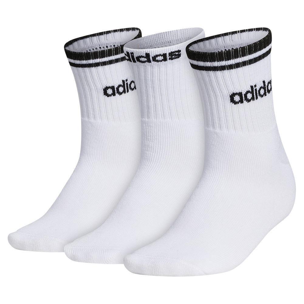 Women's Sport Stripe High Quarter Socks 3- Pack White And Black