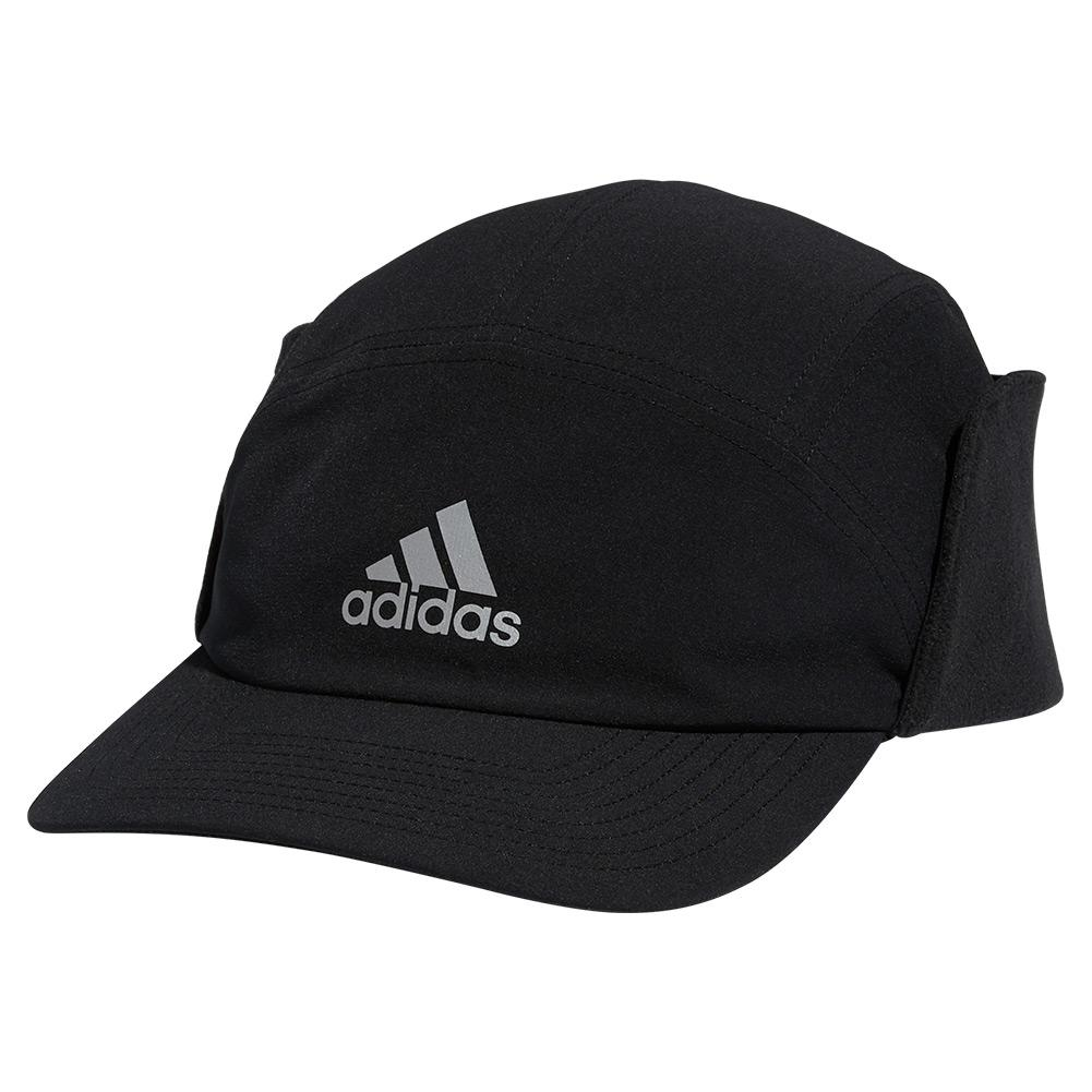 Unisex Superlite Ear Flap Cap Black And Silver Reflective