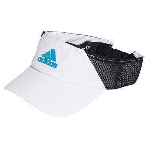 Aeroready Tennis Visor White and Sonic Aqua