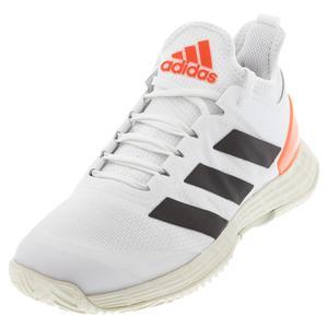 Men`s adizero Ubersonic 4 Tennis Shoes White and Core Black