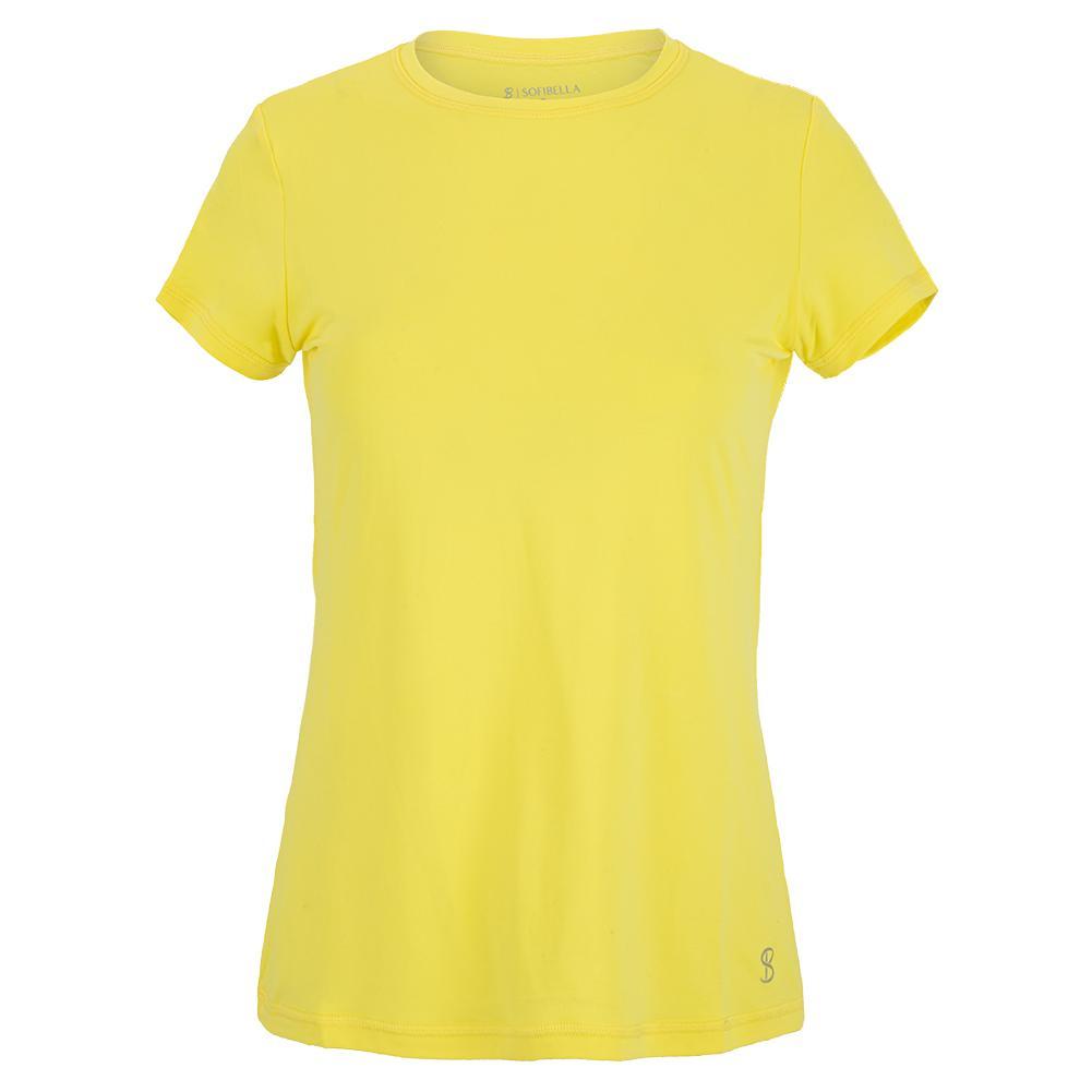 Women's Uv Short Sleeve Tennis Top Sunshine