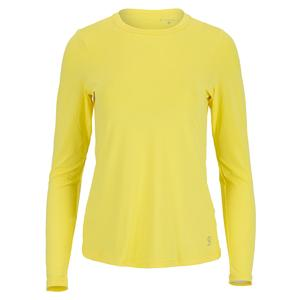 Women`s UV Long Sleeve Tennis Top Sunshine