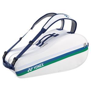 75th Elite Racquet 6 Pack Tennis Bag White