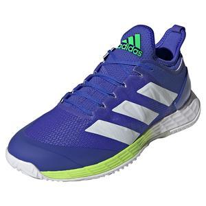 Men`s adizero Ubersonic 4 Tennis Shoes Sonic Ink and White