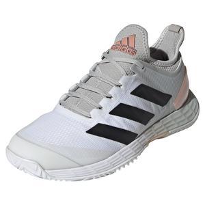 Women`s adizero Ubersonic 4 Tennis Shoes Off White and Silver Metallic