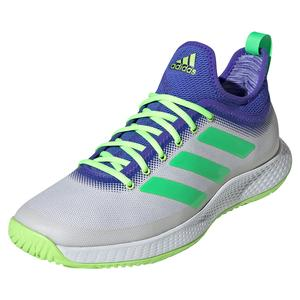 Men`s Defiant Generation Tennis Shoes White and Screaming Green