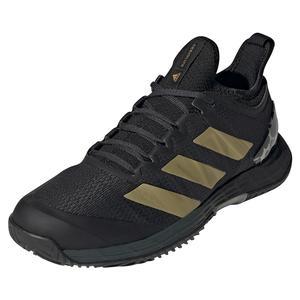 Women`s Marimekko adizero Ubersonic 4 Tennis Shoes Carbon and Gold Metallic