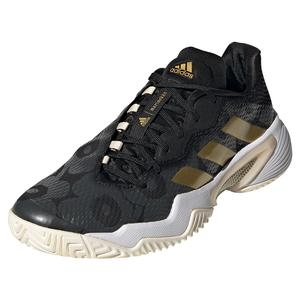 Women`s Marimekko Barricade Tennis Shoes Core Black and Gold Metallic