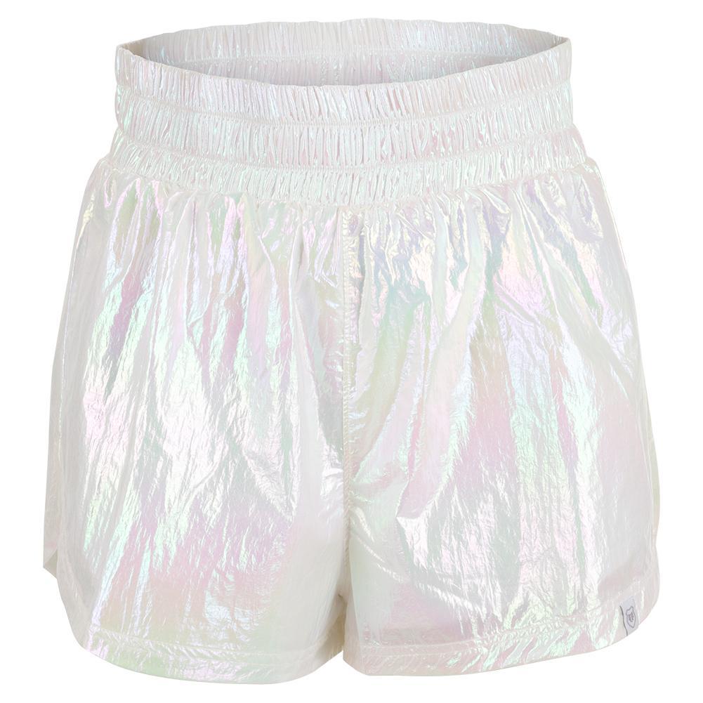 Women's Light It Up Tennis Short Foil Iridescent