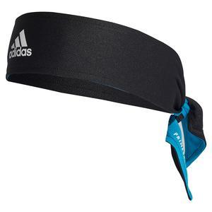 Rev Tennis Tieband Black and Sonic Aqua
