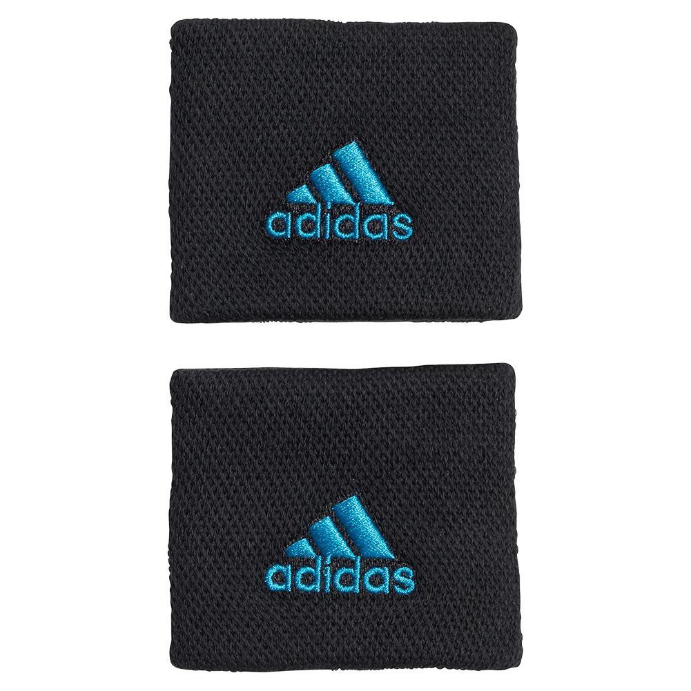 Small Tennis Wristband Black And Sonic Aqua
