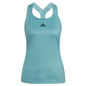 Women`s Aeroready Y-Back Tennis Tank Mint Tone and Black