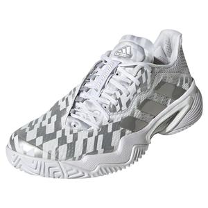 Women`s Barricade Tennis Shoes White and Silver Metallic