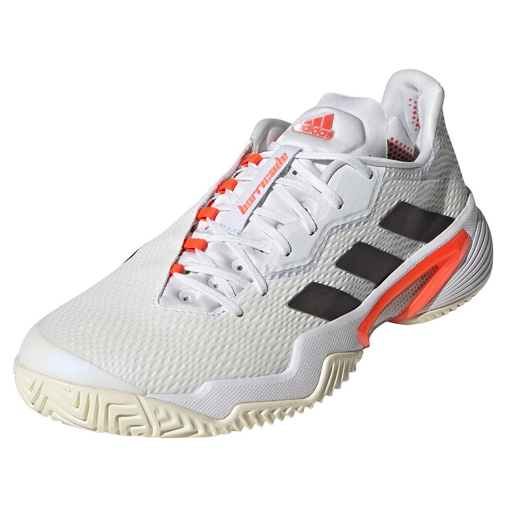Men's Barricade Tennis Shoes White And Core Black