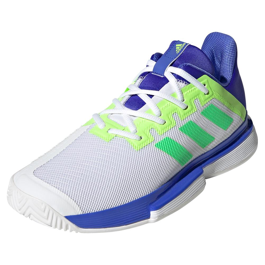 Men's Solematch Bounce Tennis Shoes Sonic Ink And Screaming Green