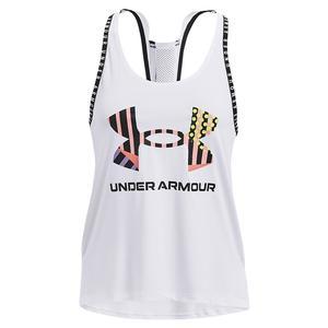 Women`s UA Geo Knock Out Tank White