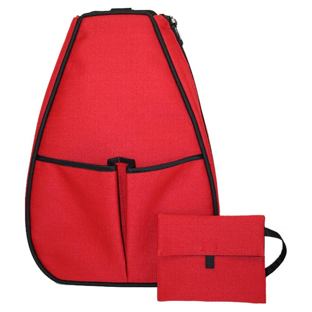 Women's Sophi Tennis Backpack Red Linen