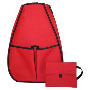 Women`s Sophi Tennis Backpack Red Linen