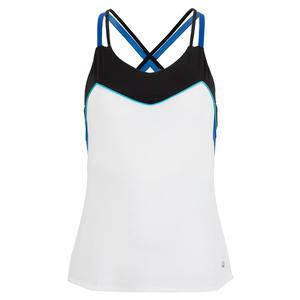 Women`s Celestia Point Cami Tennis Top White and Black