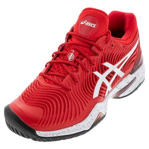 Men`s Court FF Novak LE Tennis Shoes Classic Red and White