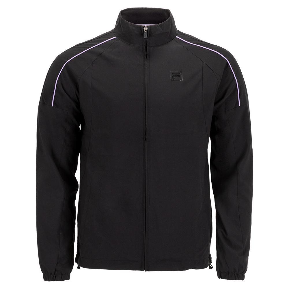 Men's Adrenaline Performance Tennis Jacket Black And Lavender