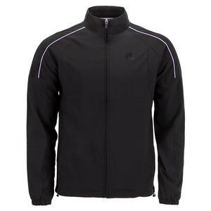 Men`s Adrenaline Performance Tennis Jacket Black and Lavender