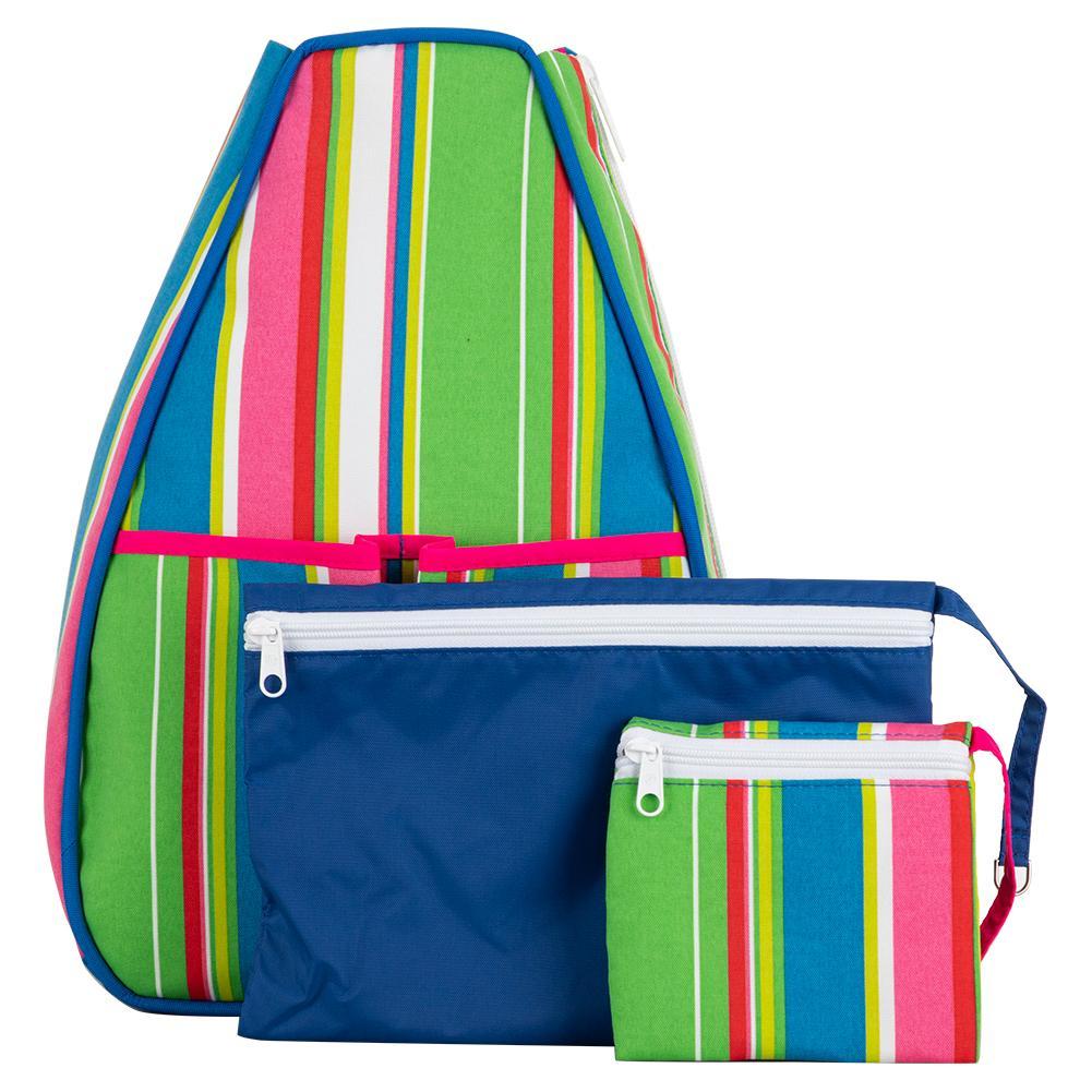 Women's Sophi Tennis Backpack Sherbet Stripe