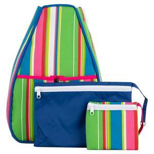 Women`s Sophi Tennis Backpack Sherbet Stripe