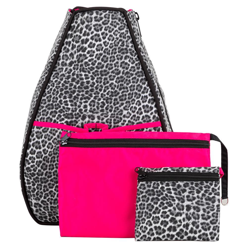 Women's Sophi Tennis Backpack Gray Cheetah
