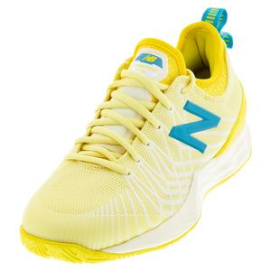 Women`s Fresh Foam LAV D Width Tennis Shoes Lemon Haze and Citra Yellow