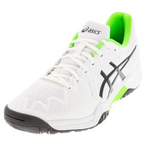 Juniors` GEL-Resolution 8 GS Tennis Shoes White and Green Gecko
