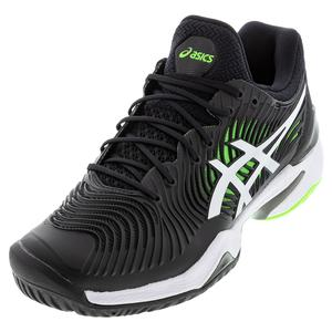 Men`s Court FF 2 Tennis Shoes Black and Green Gecko