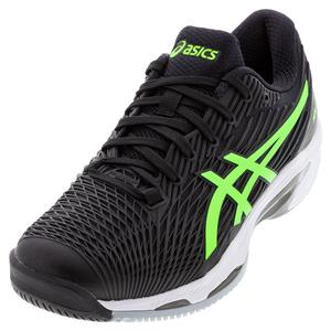 Men`s Solution Speed FF 2 Tennis Shoes Black and Green Gecko