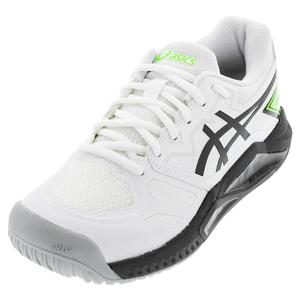 Men`s GEL-Challenger 13 Tennis Shoes White and Green Gecko