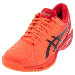 Men`s Solution Speed FF 2 Tokyo Tennis Shoes Sunrise Red and Eclipse Black