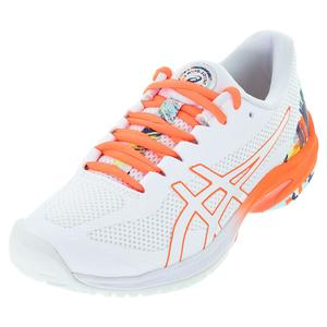 Women`s Court Speed FF Tennis Shoes White and Sunrise Red