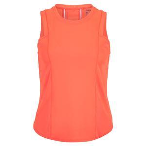 Women`s Starter Ribbed Tennis Tank Orange Glow